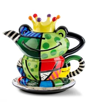 Romero Britto Dinnerware, Frog Tea Set for One