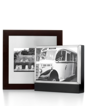 """Leeber Picture Frame, Wood and Metal 5"""" x 7"""" Box Frame"""