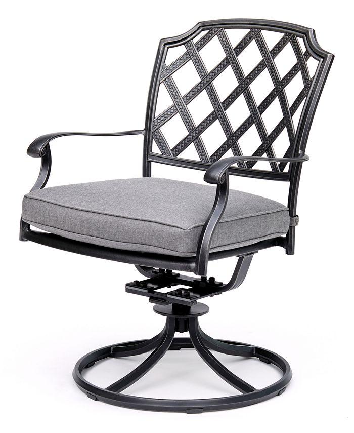 Furniture - Vintage II Swivel Chair With Sunbrella® Cushion, Created For Macy's