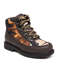 Deer Stags Little and Big Boys Hunt Boy's Rugged Thinsulate Water Resistant Camo Hiker Boot