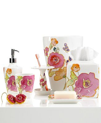 Closeout Lenox Bath Accessories Floral Fusion Shower Curtain Hooks Bathroom Accessories