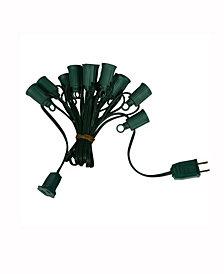 Vickerman 25' C7 Socket String With 25 C7 Sockets On Spt1 18 Gauge Green Wire