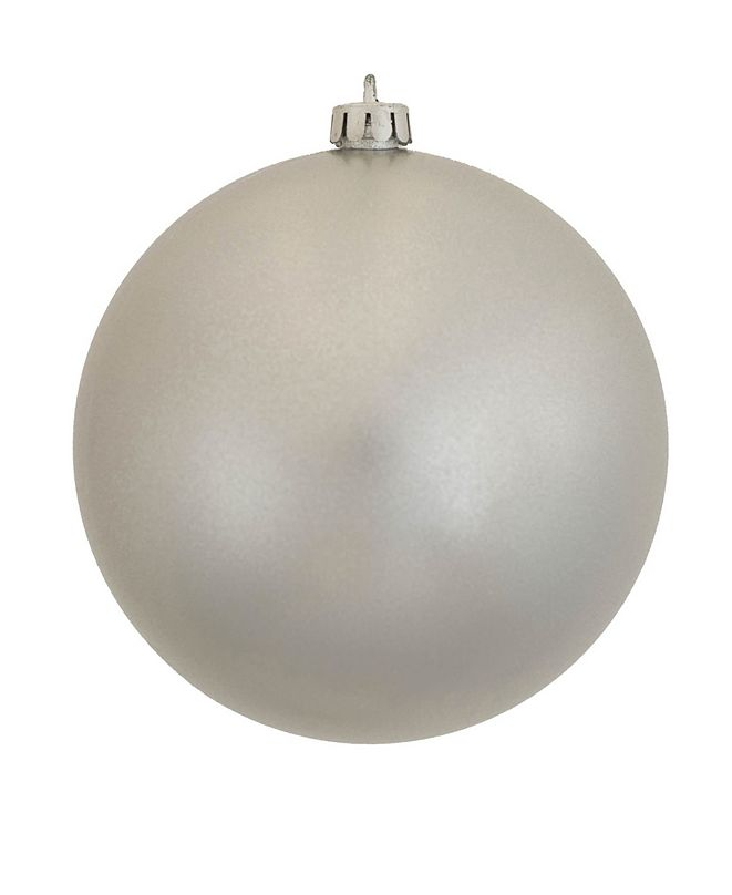 "Vickerman 12"" Silver Candy Ball Christmas Ornament"