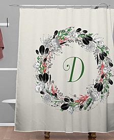 Deny Designs Iveta Abolina Silver Dove Christmas D Shower Curtain