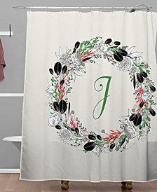 Deny Designs Iveta Abolina Silver Dove Christmas J Shower Curtain