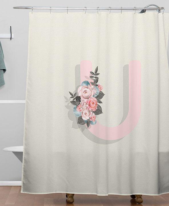 Deny Designs Iveta Abolina Pivoine U Shower Curtain