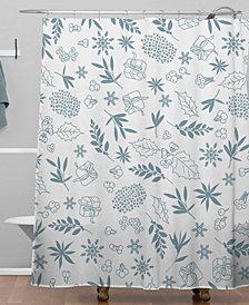 Deny Designs Iveta Abolina Oslo Winter Frost Shower Curtain