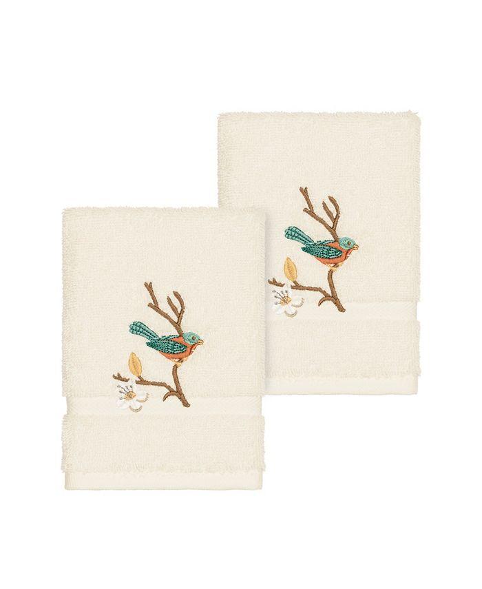 Linum Home - SPRING TIME 2PC Embellished Washcloth Set