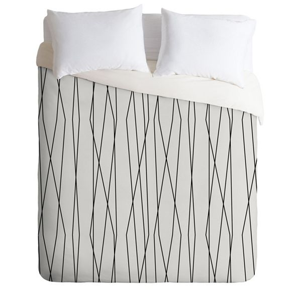 Deny Designs Heather Dutton Linear Cross Stone King Duvet Set