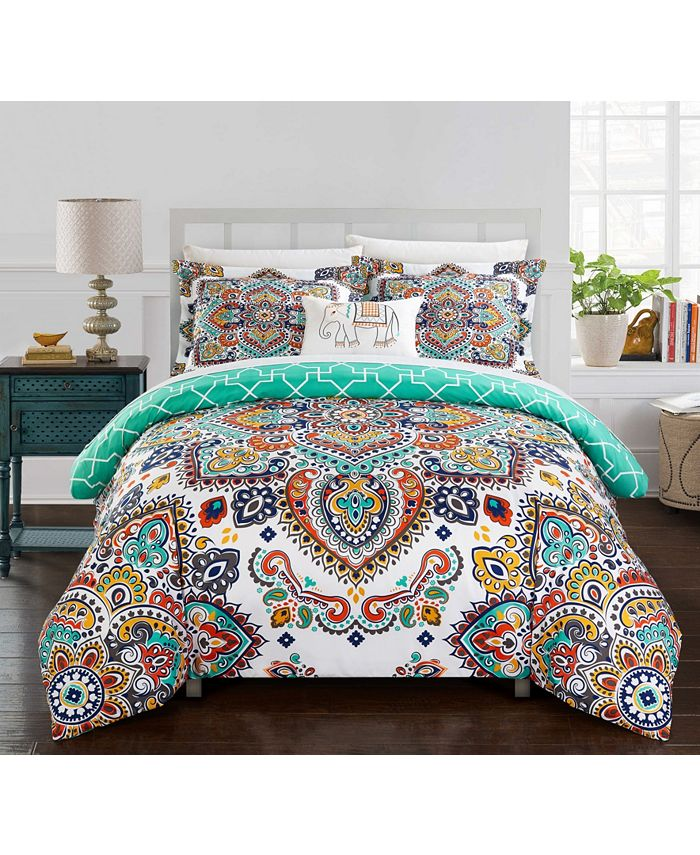 Chic Home - Raypur 8-Pc. Bed In a Bag Comforter Sets