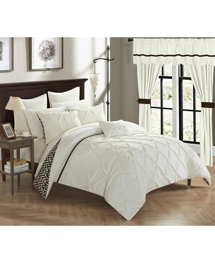 Chic Home - Jacksonville 20-Pc. Queen Bed In a Bag Comforter Set