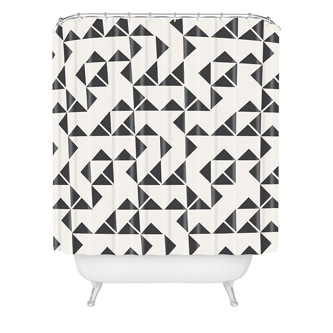 Deny Designs Holli Zollinger Pinwheels Shower Curtain