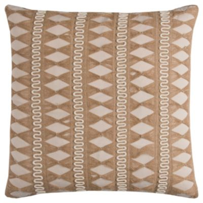 """22"""" x 22"""" Pulled Jute Stripe Poly Filled Pillow"""
