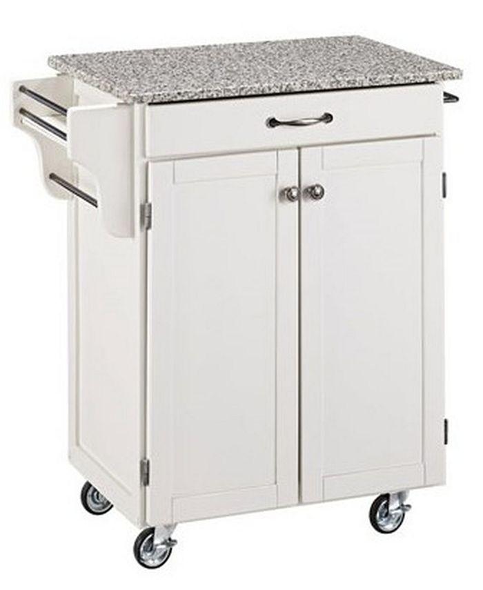 Home Styles - Cuisine Cart White Finish SP Granite Top