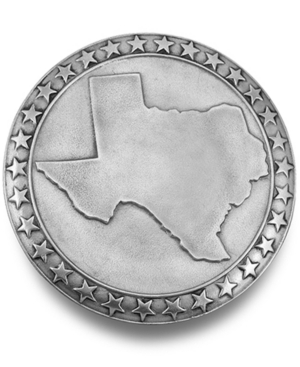 wilton armetale serveware, texas and stars round tray