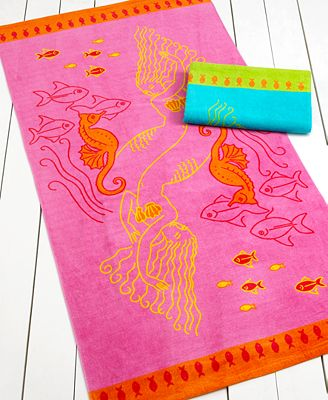 Martha Stewart Collection Towels Under The Sea Beach
