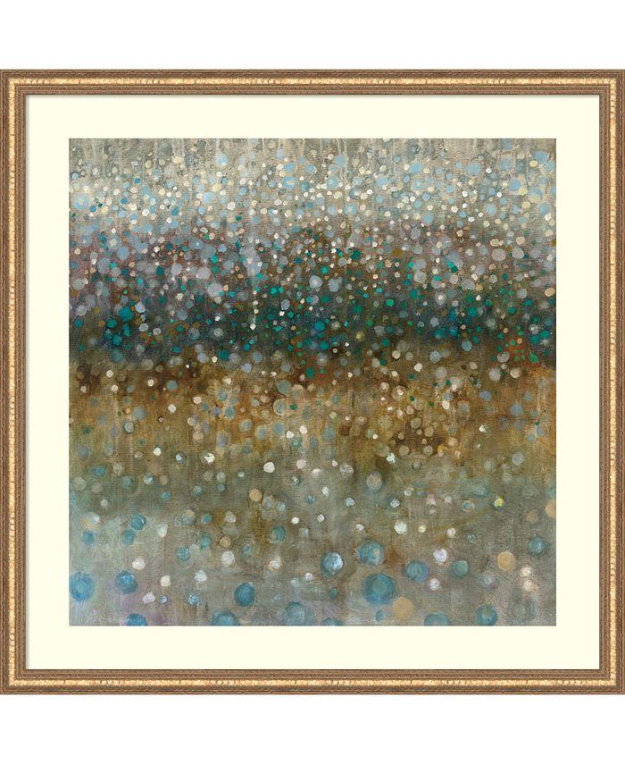 Amanti Art - Abstract Rain 34x34 Framed Art Print