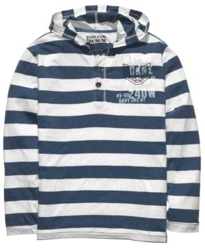 DKNY Jeans Hoodie, Striped Henley