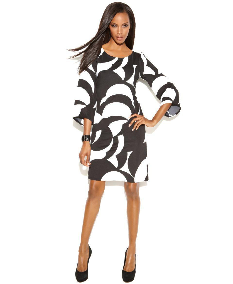 INC International Concepts Dress, Batwing Sleeve Graphic Print Shift