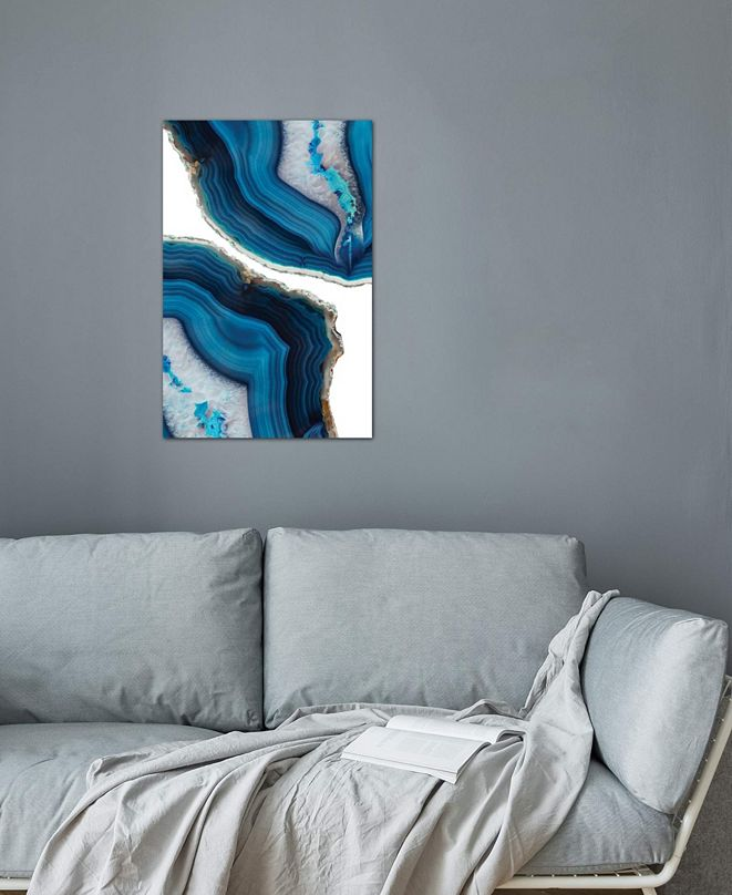 """iCanvas """"Blue Agate"""" by Emanuela Carratoni Gallery-Wrapped Canvas Print"""