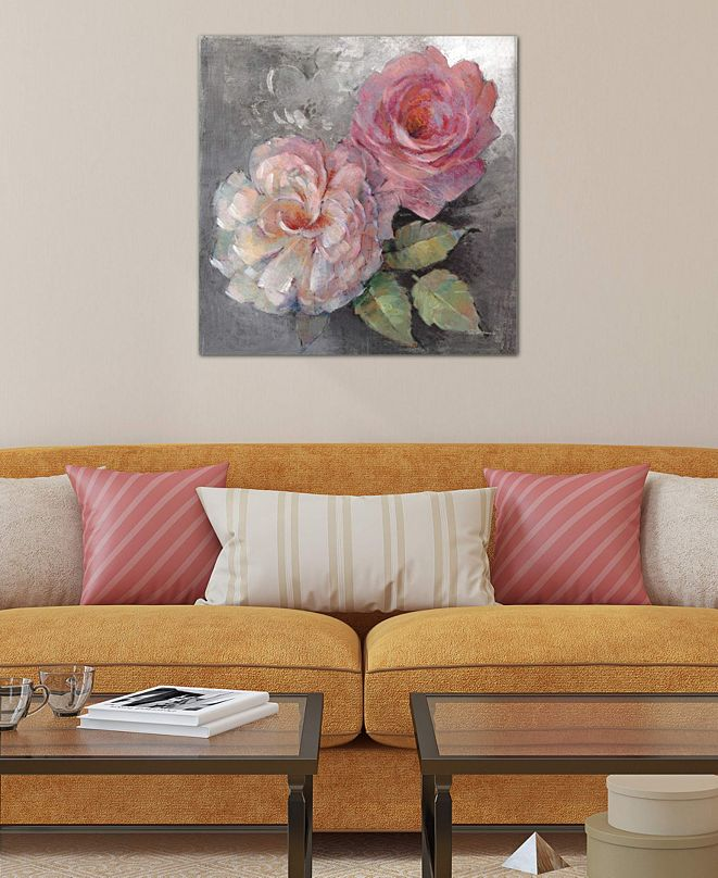 """iCanvas """"Roses On Gray I"""" by Peter McGowan Gallery-Wrapped Canvas Print"""