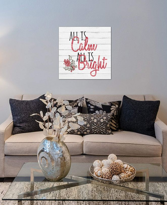 "iCanvas ""All Is Calm, All Is Bright"" by 5by5collective Gallery-Wrapped Canvas Print (26 x 26 x 0.75)"