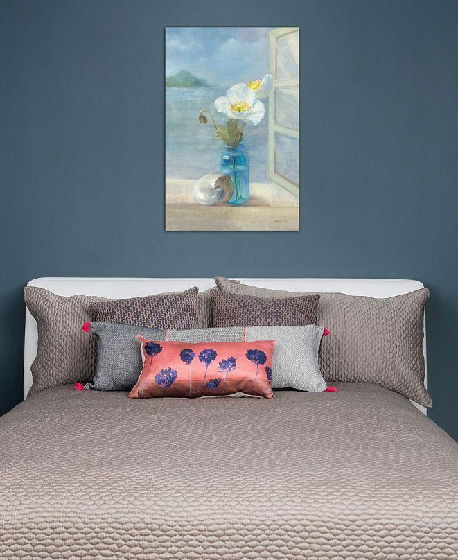 """iCanvas """"Coastal Floral II"""" by Danhui Nai Gallery-Wrapped Canvas Print (40 x 26 x 0.75)"""