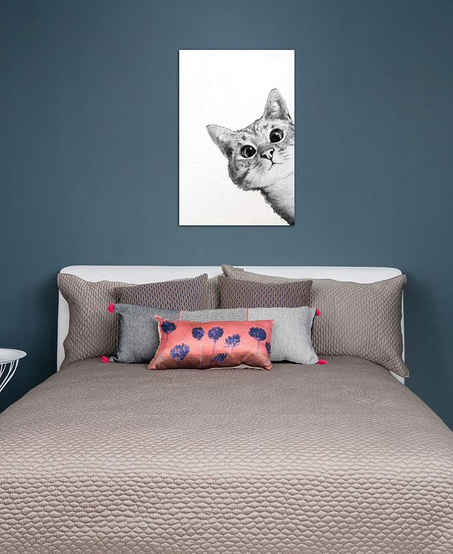 """iCanvas """"Sneaky Cat"""" by Laura Graves Gallery-Wrapped Canvas Print (40 x 26 x 0.75)"""