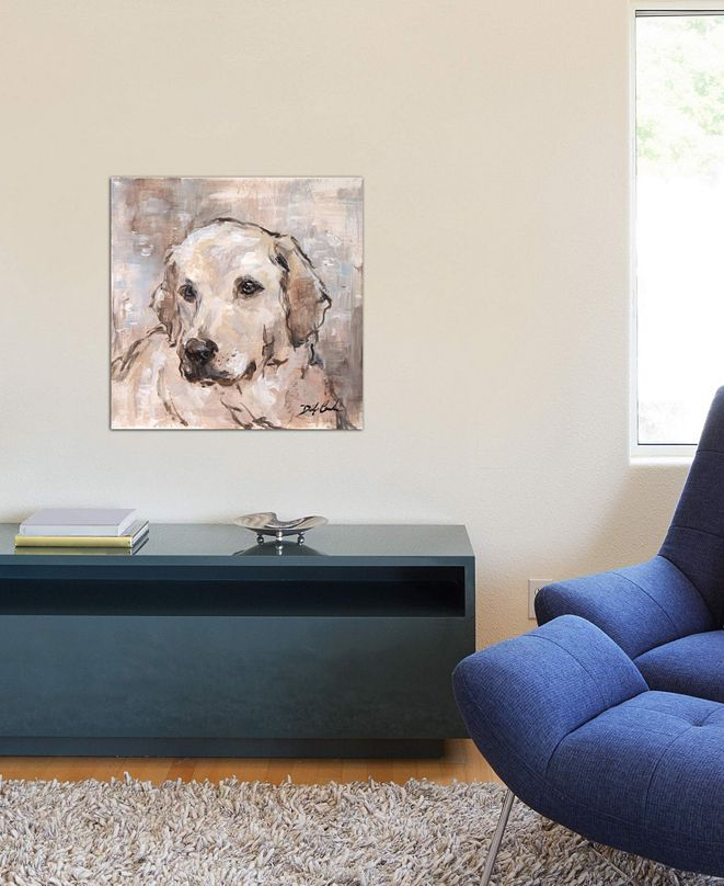 "iCanvas ""Lovely Lab"" by Debi Coules Gallery-Wrapped Canvas Print (26 x 26 x 0.75)"