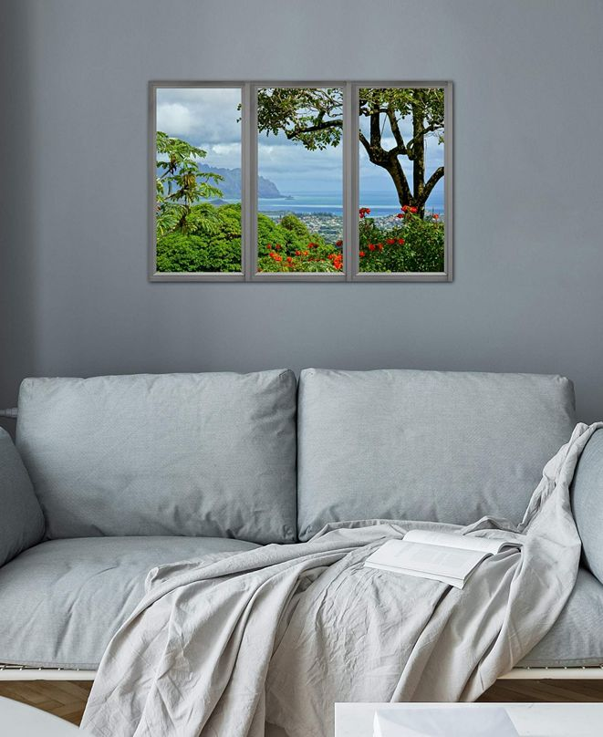 "iCanvas ""Hawaii Window View"" Gallery-Wrapped Canvas Print (26 x 40 x 0.75)"