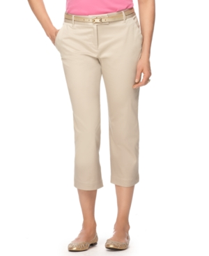 Charter Club Pants, Straight Leg Cropped Capris
