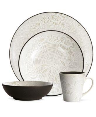 Noritake Dinnerware, Colorwave Chocolate Bloom 4 Piece Place Setting