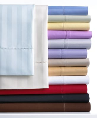 Charter Club Damask Stripe 500 Thread Count Queen Extra Deep Pocket Sheet Set