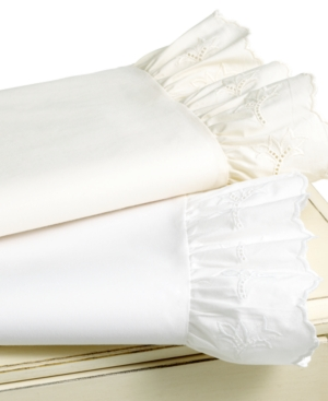 Lauren by Ralph Lauren Bedding, Pair of Lauren Lace Standard Pillowcases Bedding