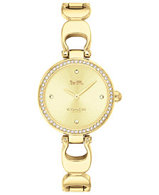 COACH Women's Park Gold-Tone Bracelet Watch 26mm