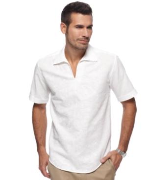 Cubavera Shirt, Short Sleeve Embroidered Popover