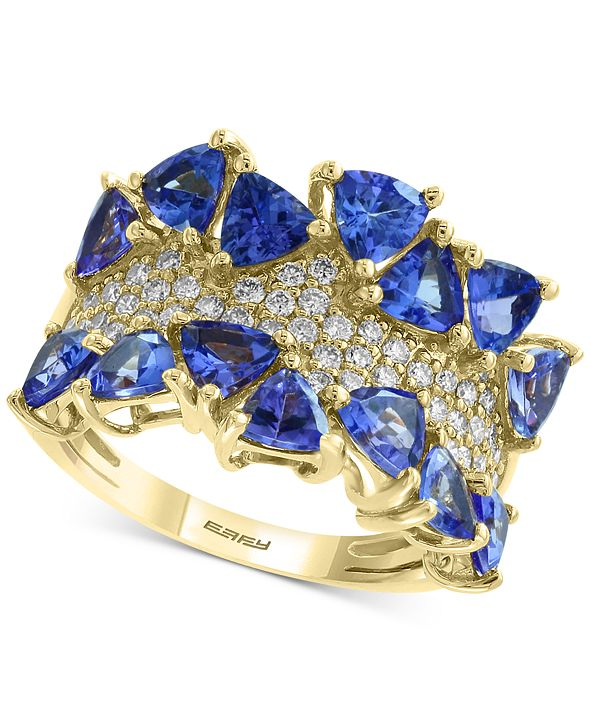 EFFY Collection EFFY® Tanzanite (3 ct. t.w.) & Diamond (3/8 ct. t.w.) Ring in 14k Gold