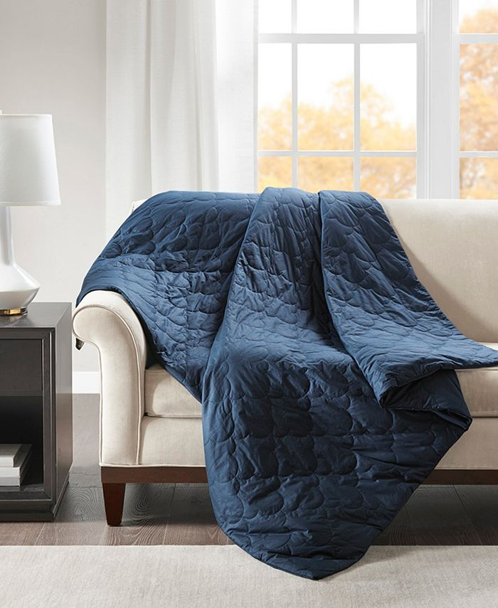 Beautyrest - Deluxe 12lb Quilted Cotton Weighted Blanket