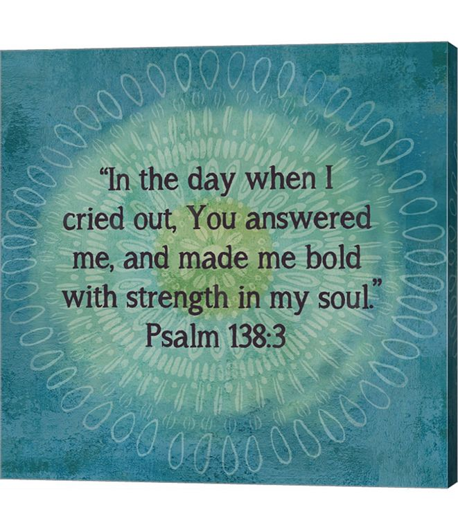 Metaverse Jacobean Medallion Scripture I by Cynthia Coulter Canvas Art