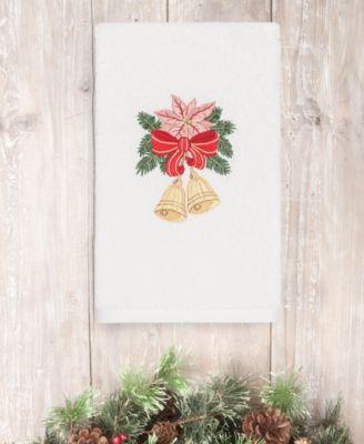 CLOSEOUT!  Christmas Bells 100% Turkish Cotton Hand Towel