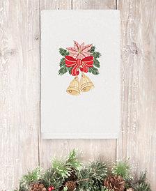 CLOSEOUT!  Linum Home Christmas Bells 100% Turkish Cotton Hand Towel