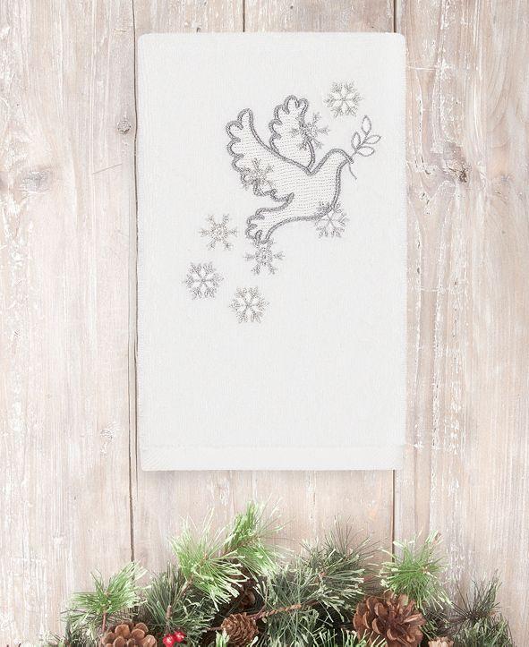Linum Home CLOSEOUT!  Christmas Dove 100% Turkish Cotton Hand Towel
