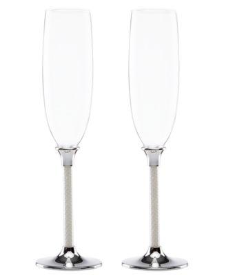 Lenox Toasting Flutes, Set of 2 Jubilee Pearl