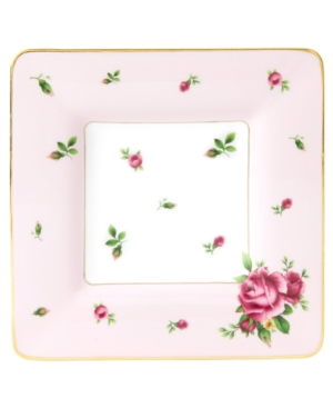 Royal Albert Dinnerware, Old Country Roses Pink Vintage Square Plate