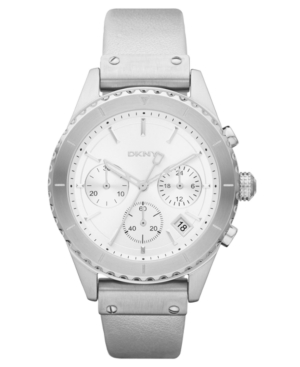 DKNY Watch, Women's Chronograph Warm Gray Leather Strap 38mm NY8517