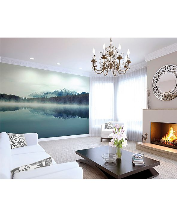 Brewster Home Fashions Cloudy Peaks Wall Mural