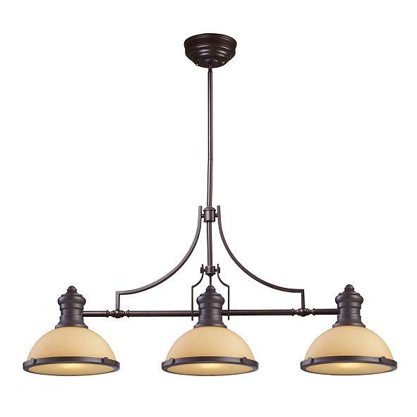 ELK Lighting Chadwick 3-Light Billiard in Oiled Bronze