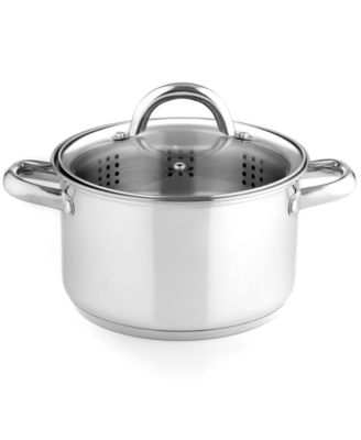 Image of Tools of the Trade Stainless Steel 4 Qt. Stockpot with Steamer Insert, Only at Macy's