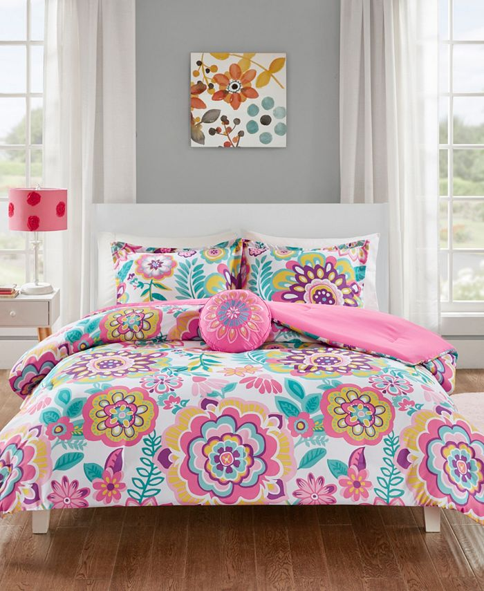 Mi Zone - Camille 4-Pc. Floral Comforter Sets