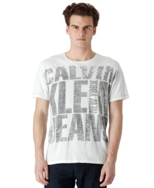 Calvin Klein Jeans Shirt, Big Logo T Shirt